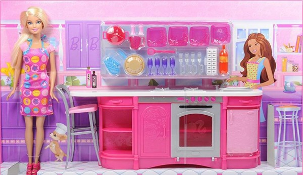 Barbie Kitchen Set Aladdin Mart